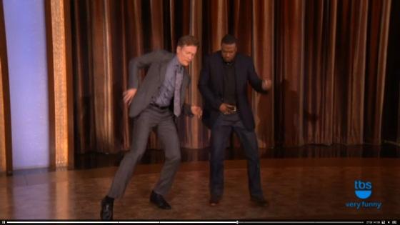 Conan and Chris Tucker Dancing2